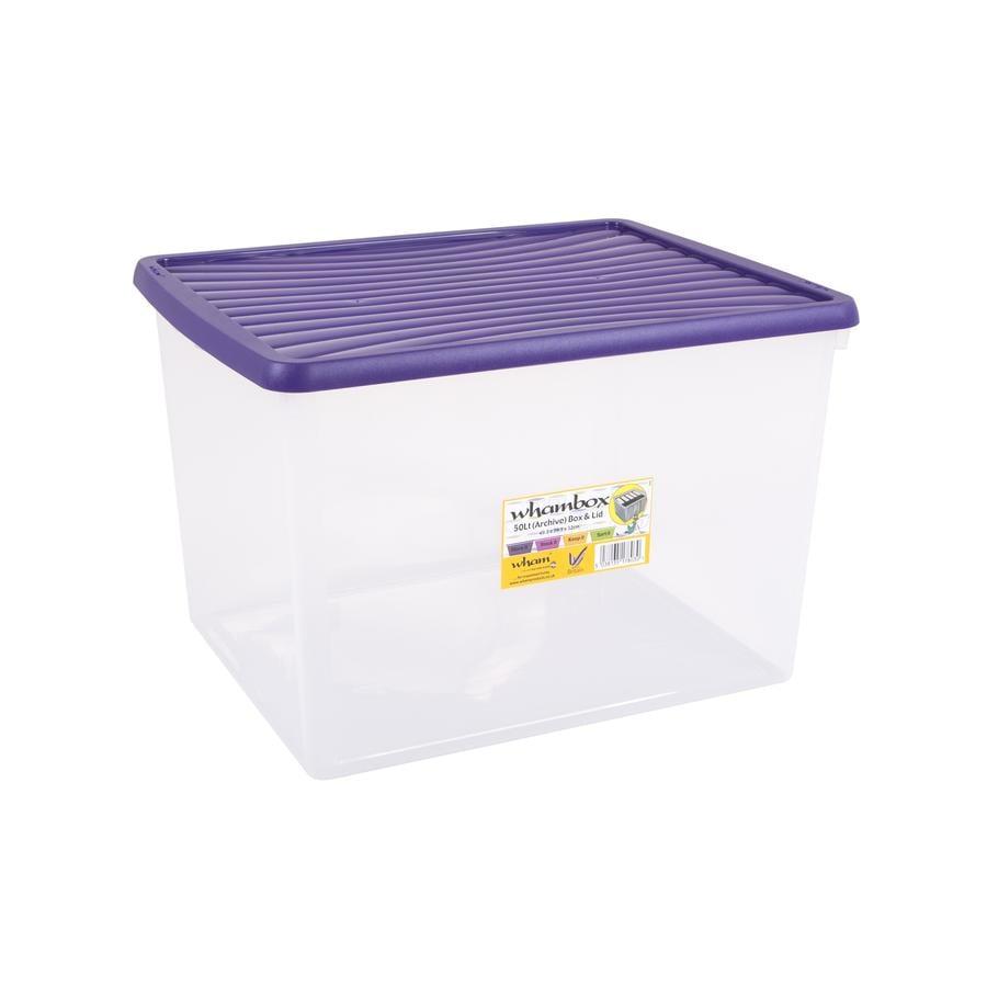 ® Whambox 50 l mit Deckel (Aufbewahrungsbox), violett