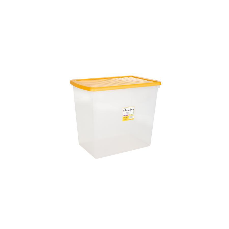® Whambox 90 l mit Deckel (Aufbewahrungsbox), gelb