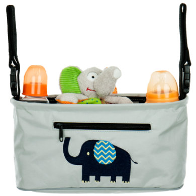 fillikid Buggy Travel Organizer Olifant lichtgrijs