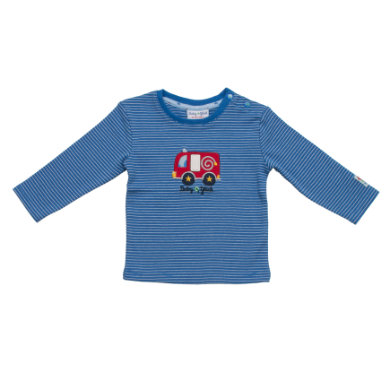 Salt and Pepper Baby Glück Boys Longsleeve stripe Auto classic blue blau Jungen