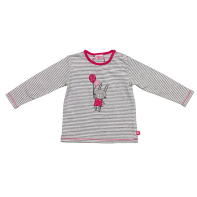 Salt and Pepper Baby Glück Girls Longsleeve Rabbit grey melange - grau - Mädchen