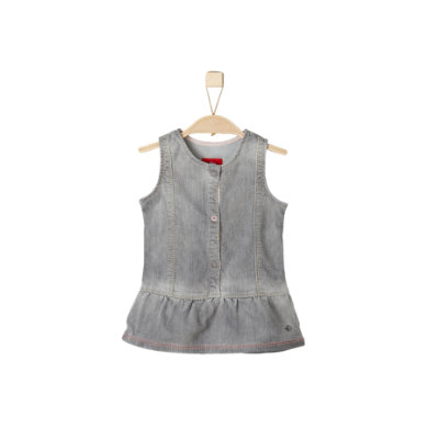 s.Oliver Girls Kleid grey denim stretch - grau - Gr.74 - Mädchen