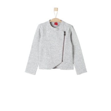 Minigirljacken - s.Oliver Girls Sweatjacke grey melange – grau – Gr.Kindermode (2 – 6 Jahre) – Mädchen - Onlineshop Babymarkt