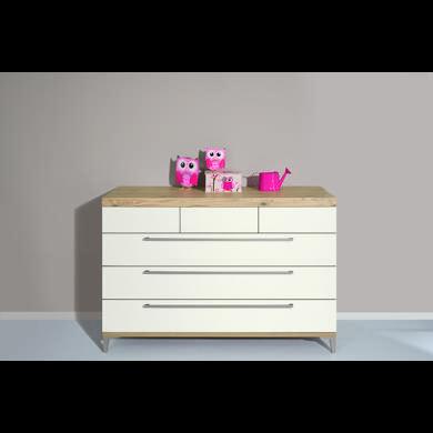 Schränke, Kommoden und Regale - PAIDI Kommode Remo breit 3 Schubladen kreideweiß  - Onlineshop Babymarkt