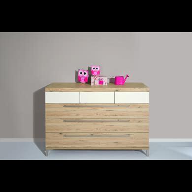 Schränke, Kommoden und Regale - PAIDI Kommode Remo breit 3 Schubladen Bordeaux Eiche  - Onlineshop Babymarkt
