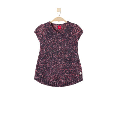 Minigirlroeckekleider - s.Oliver Girls Strickkleid dark blue – blau – Gr.104 110 – Mädchen - Onlineshop Babymarkt
