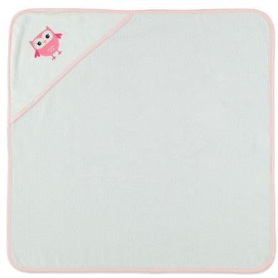 HÜTTE & CO Serviette de bain enfant capuche hibou blanc 75x75 cm