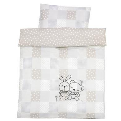 Kindertextilien - Alvi Bettwäsche 100 x 135 cm, Rabbit sandgrau  - Onlineshop Babymarkt