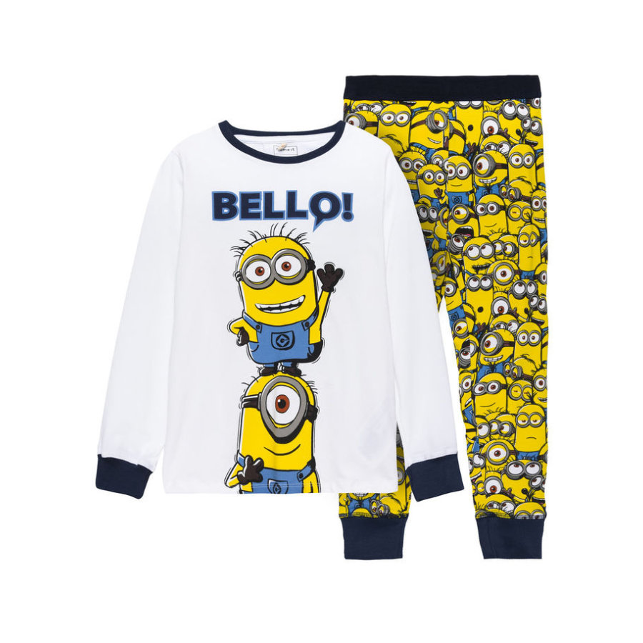 name it Boys Schlafanzug 2 teilig Minions bright white