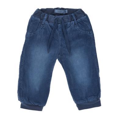 name it Boys Cordhose Mikkel dark denim blau Gr.Newborn (0 6 Monate) Jungen
