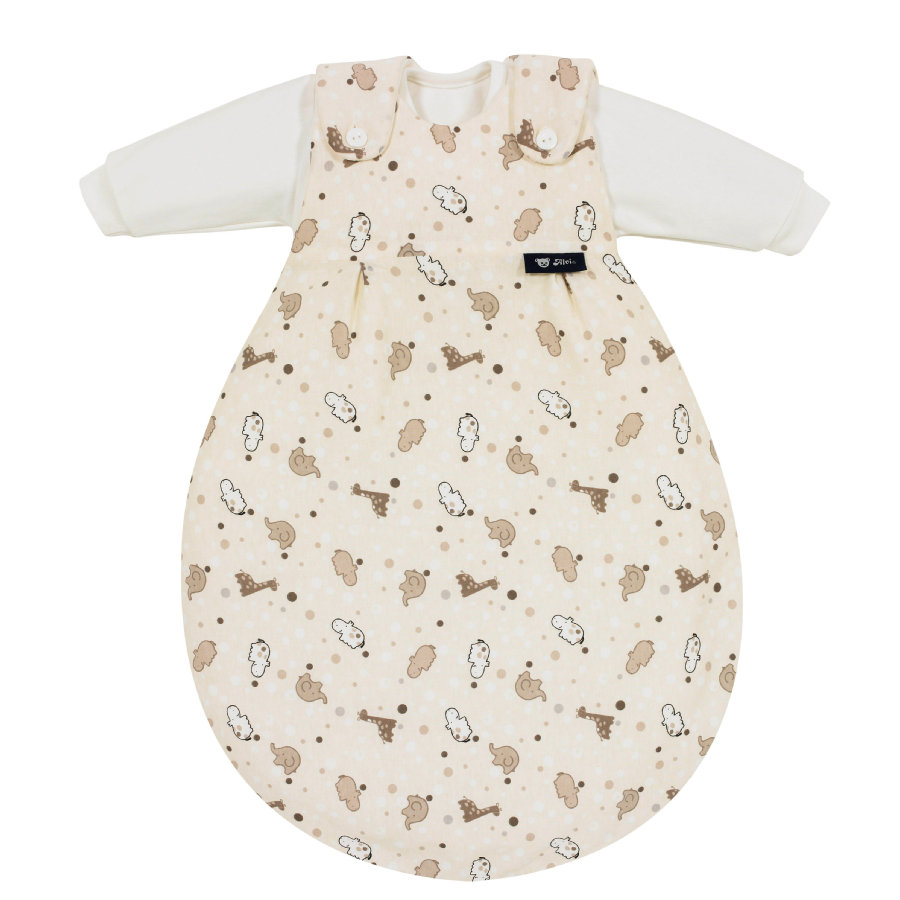 ALVI Gigoteuse Baby Mäxchen, Hippopotame, 3 pièces, beige