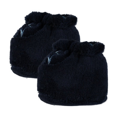 Edition4Babys Coral Fleece Schuhe navy Streifen - blau - Gr.Newborn (0 - 6 Monate) - Jungen