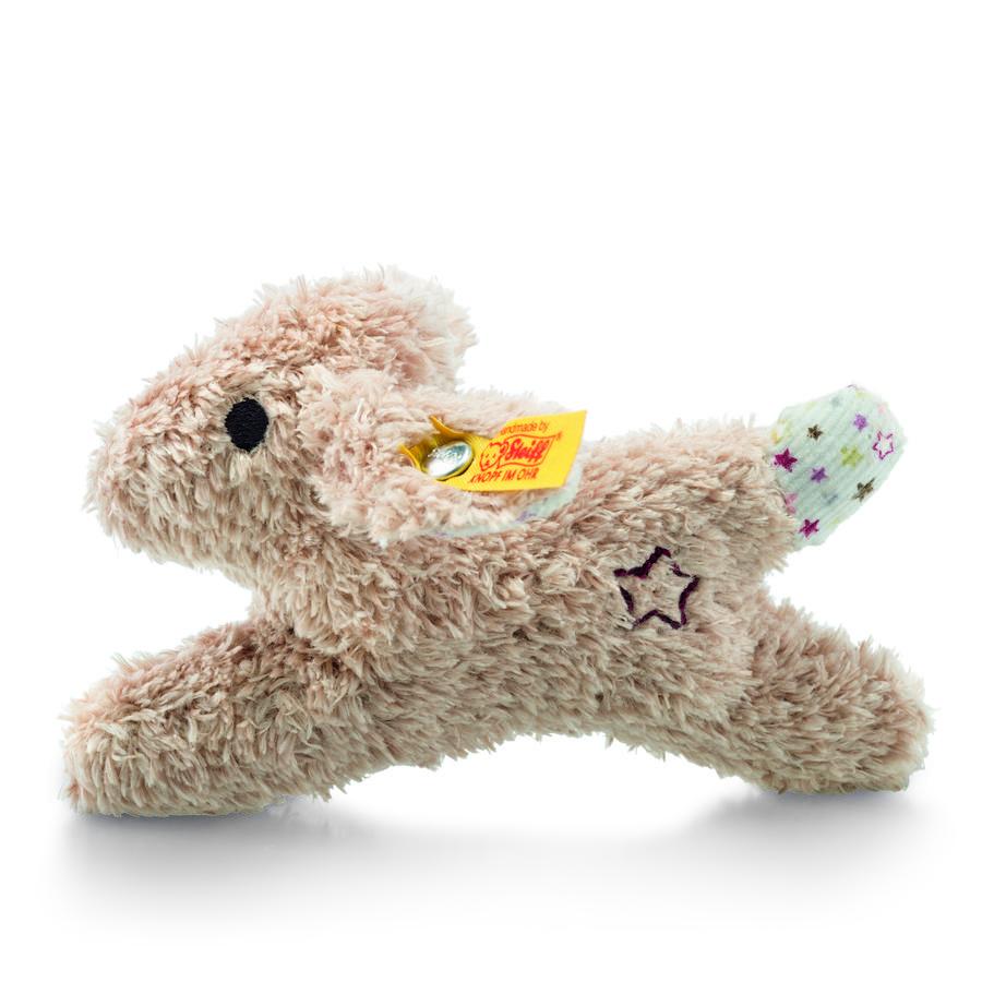 Steiff Mini Rassel-Knister Hase, Kuscheltier, beige, 11 cm