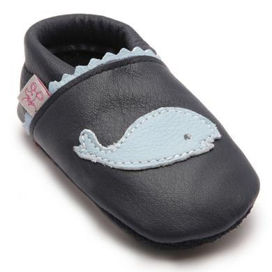 Babyschuhe - TROSTEL Boys Krabbelschuh Wal dunkelblau - Onlineshop Babymarkt