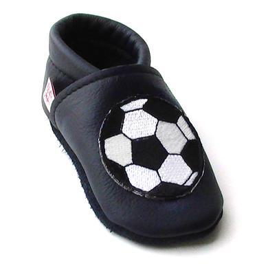 Babyschuhe - TROSTEL Boys Krabbelschuh Fußball dunkelblau - Onlineshop Babymarkt