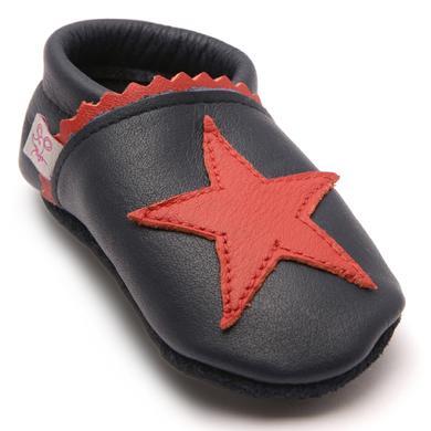 Babyschuhe - TROSTEL Krabbelschuh Stern blau - Onlineshop Babymarkt