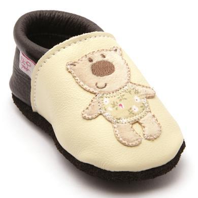 Babyschuhe - TROSTEL Krabbelschuh Teddybär beige - Onlineshop Babymarkt