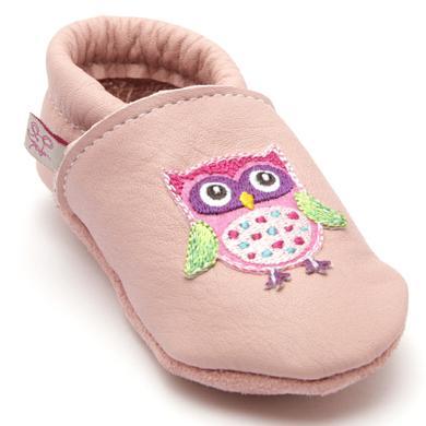 Babyschuhe - TROSTEL Girls Krabbelschuh Eule rosa - Onlineshop Babymarkt