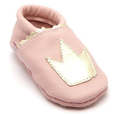 TROSTEL Girls Krabbelschuh Krone rosa – rosa pink – Gr.19 – Mädchen