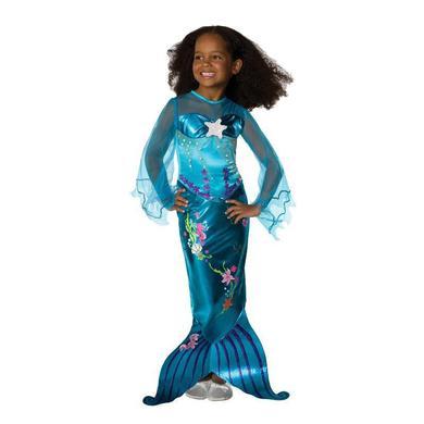 Blue magical mermaid kostuum voor kinderen, maat s