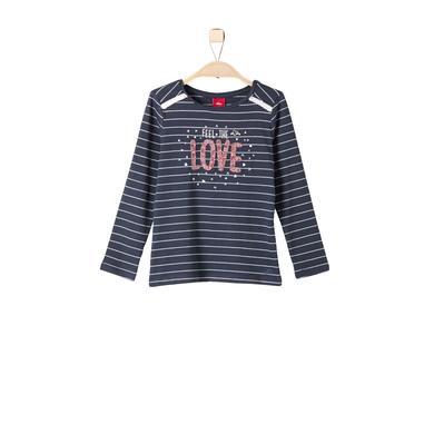 Minigirloberteile - s.Oliver Girls Longsleeve dark blue stripes – blau – Gr.Kindermode (2 – 6 Jahre) – Mädchen - Onlineshop Babymarkt