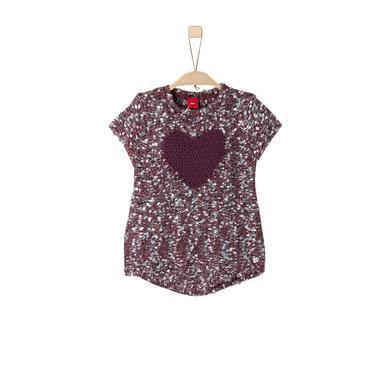 s.Oliver Girls Pullover dark pink knit kurzarm