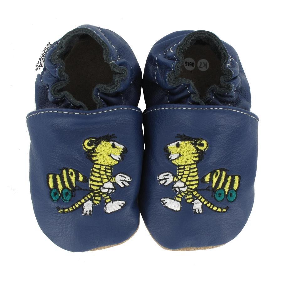 HOBEA Germany Krabbelschuhe Janosch Tiger mit Tigerente blau