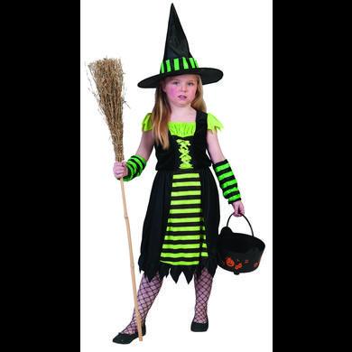 Kostuemefuermaedchen - Funny Fashion Kostüm Green Witch – grün – Gr.140 – Mädchen - Onlineshop Babymarkt