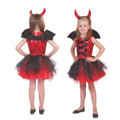 Kostuemefuermaedchen - Funny Fashion Kostüm Devil Girl – rot – Gr.116 122 – Mädchen - Onlineshop Babymarkt