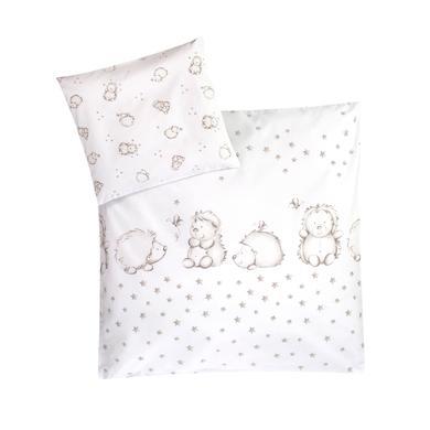 Kindertextilien - JULIUS ZÖLLNER Bettwäsche Igelchen 80 x 80 cm grau  - Onlineshop Babymarkt
