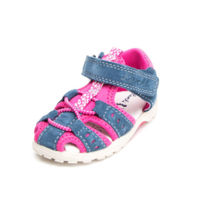 Lurchi Girls Sandale Maxy jeans fuchsia (mittel) blau Gr.Babymode (6 24 Monate) Mädchen