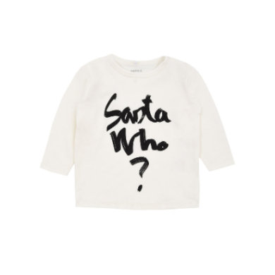 name it Girls Longsleeve Chris snow white - weiß - Gr.Newborn (0 - 6 Monate) - Mädchen