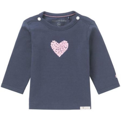 noppies Langarmshirt Natick navy blau Gr.Newborn (0 6 Monate) Mädchen