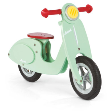 Janod ® Holz Laufrad Scooter mint türkis