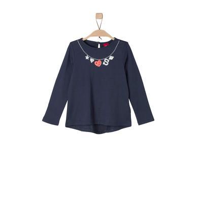 Minigirloberteile - s.Oliver Girls Longsleeve dark blue – blau – Gr.Kindermode (2 – 6 Jahre) – Mädchen - Onlineshop Babymarkt