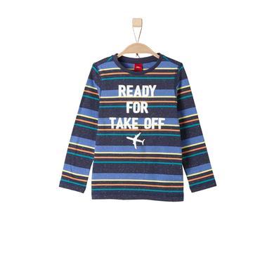 Miniboyoberteile - s.Oliver Boys Longlseeve dark blue stripes - Onlineshop Babymarkt