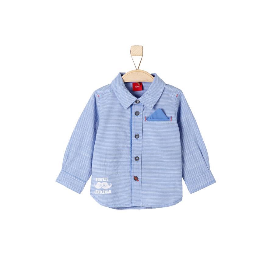 s.Oliver Boys Baby Hemd blue check