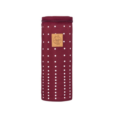 Lässig  Casual Bottle Holder Single Dotted lines burgundy