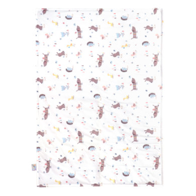 Zöllner JULIUS  Jersey deka Crazy Animals 70 x 100 cm - pestrobarevná