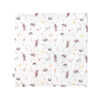 Zöllner JULIUS  Jersey deka Crazy Animals 120 x 120 cm - pestrobarevná