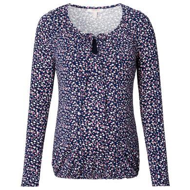 Schwangerschaftsmode für Frauen - Esprit Stillshirt blau Blumenmuster Damen  - Onlineshop Babymarkt
