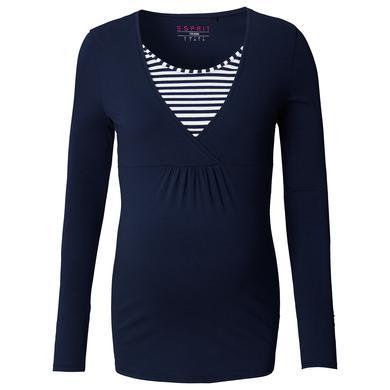 Schwangerschaftsmode für Frauen - Esprit Stillshirt Jersey dunkelblau Damen  - Onlineshop Babymarkt