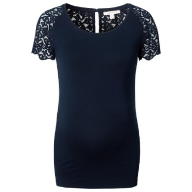 Schwangerschaftsmode für Frauen - Esprit T Shirt mit Spitzenärmeln blau Damen  - Onlineshop Babymarkt