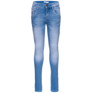 name it  Tarzan Girls medium blue denim - modrá - Gr.116