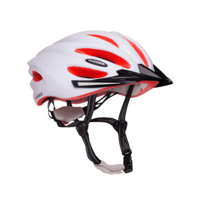 Hudora ® Fahrradhelm Basalt, Gr. 56 59, weiß magenta