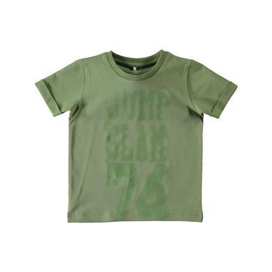 name it Boys T-Shirt Jakob oil green - grün - Gr.Babymode (6 - 24 Monate) - Jungen