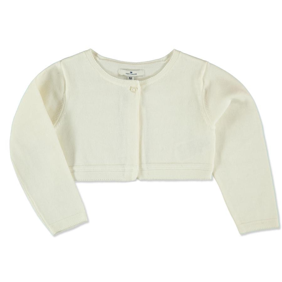 TOM TAILOR Girls Strickjacke soft clear white