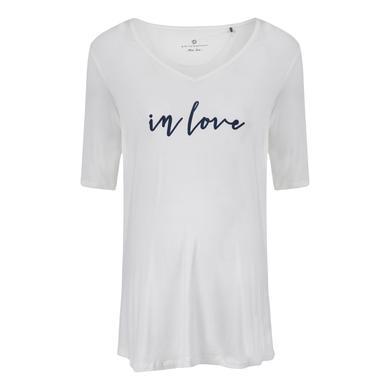 Schwangerschaftsmode für Frauen - bellybutton Umstandsshirt blanc de blanc weiß Damen  - Onlineshop Babymarkt