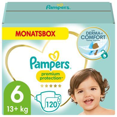 Image of Pampers Luiers Premium Protection maat 6 maanddoos 15+kg 120 stuks