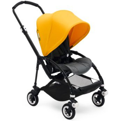 bugaboo Kinderwagen Bee 5 complete black/ grey melange - sunrise yellow - gelb